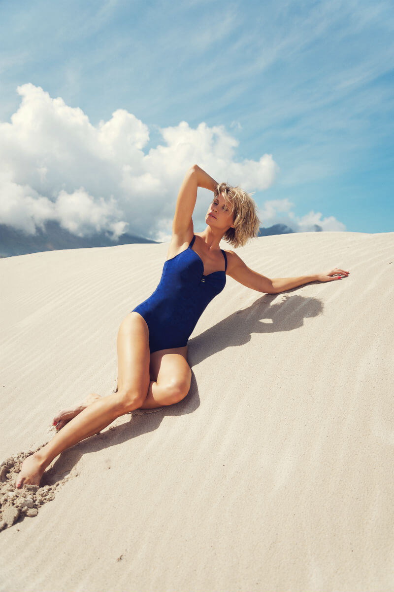 Looking fab in this bathing suit by Marlies Dekkers